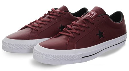 Converse Red One Star Leather  - Click to view a larger image