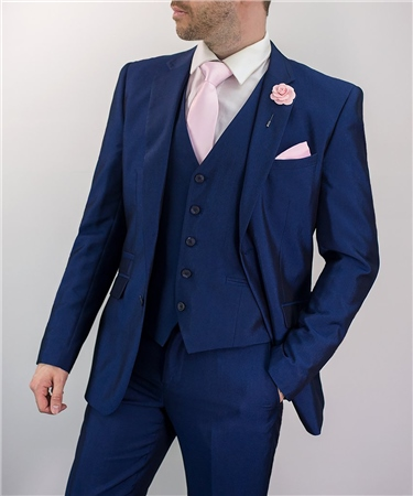 Cavani Navy Ford Wedding Three Piece Suit  - Click to view a larger image