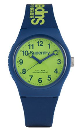 Superdry Navy/Lime Urban Watch  - Click to view a larger image