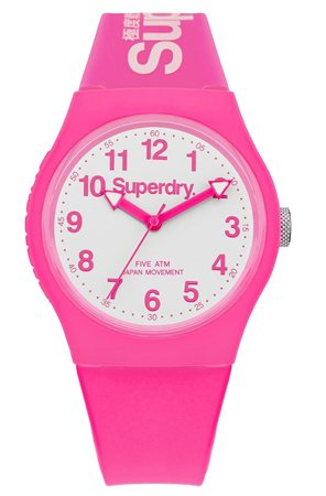 Superdry Pink & White Watch  - Click to view a larger image