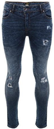 Enzo Denim+r Ripped Skinny Jean  - Click to view a larger image