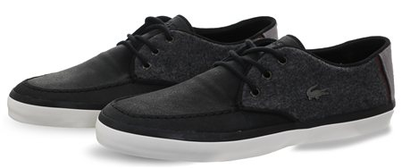 93786ef1718221 Lacoste Black Panel Texture Lace Up Shoe - Click to view a larger image