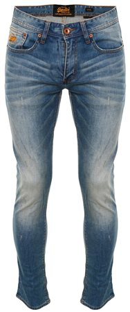 Superdry Hobo Blue Corporal Slim Jeans  - Click to view a larger image