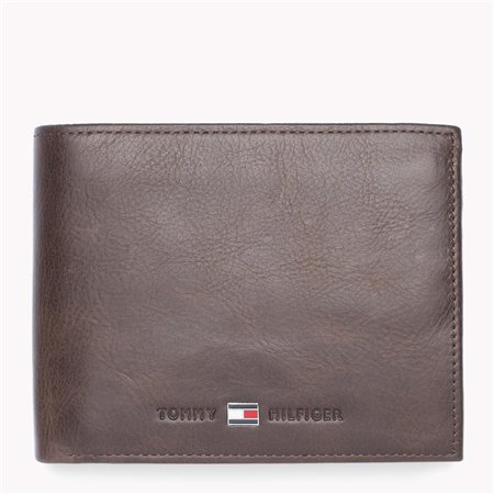 Hilfiger Denim Brown Leather Trifold Wallet  - Click to view a larger image