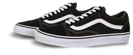 Vans Black (Mens) Old School Shoes  - Click to view a larger image