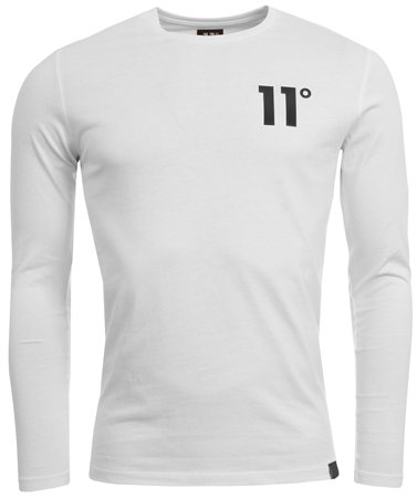 11degrees White Long Sleeve Tee  - Click to view a larger image