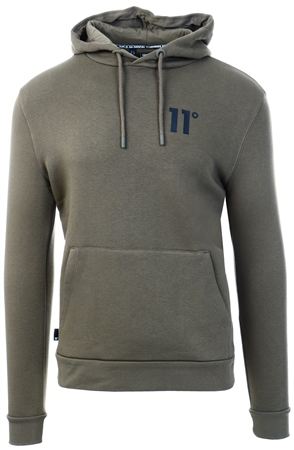 11degrees Khaki Core Pullover Hoodie  - Click to view a larger image