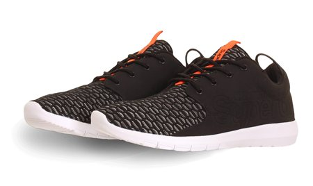 Superdry Black Weave/Black Sport Weave Runner Trainers  - Click to view a larger image
