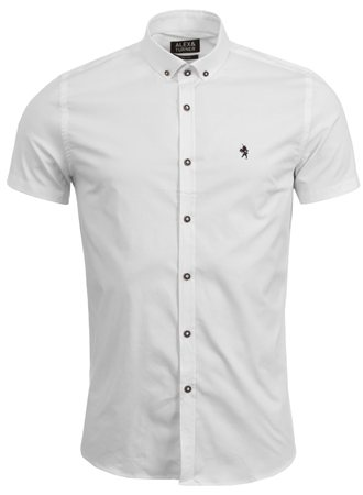 Alex & Turner White Short Sleeve Shirt  - Click to view a larger image