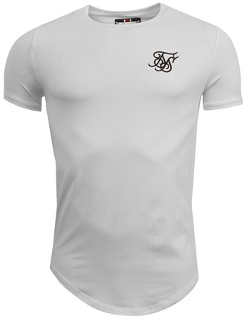 Siksilk White Plain Curved Hem Tee  - Click to view a larger image