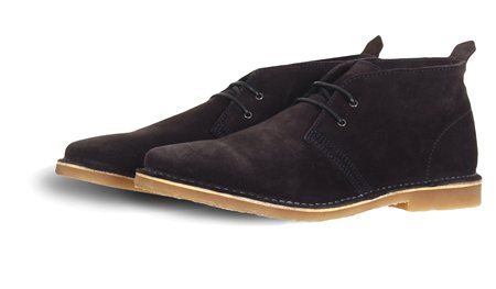 Jack & Jones Navy Suede Mid Boot  - Click to view a larger image