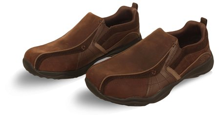 Skechers Brown Panel Shoe  - Click to view a larger image