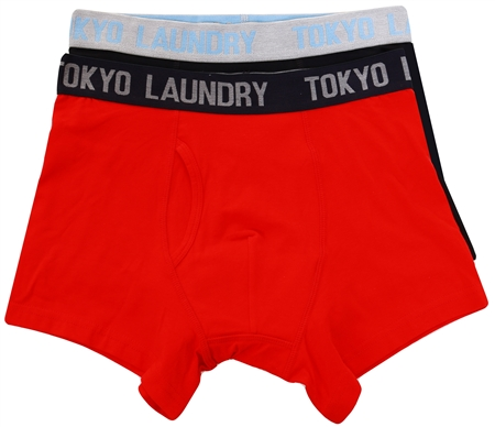 Tokyo Laundry Red Twin Pack Boxers  - Click to view a larger image