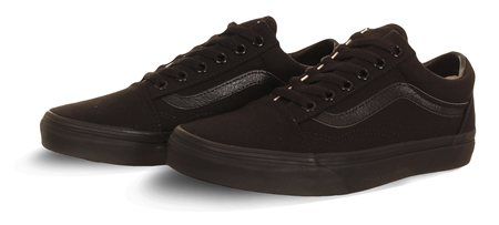 Vans Black (Womens) Old Skool Shoes  - Click to view a larger image