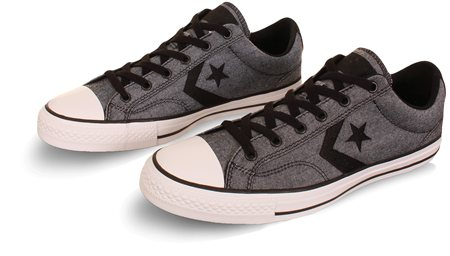Converse Black/Grey Star Player Ox Trainer  - Click to view a larger image