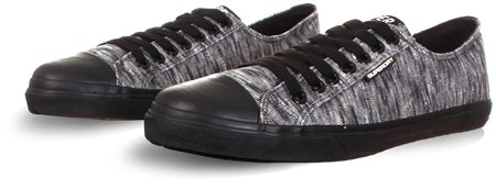 Superdry Black/Grey Low Pro Sleek Sneakers  - Click to view a larger image