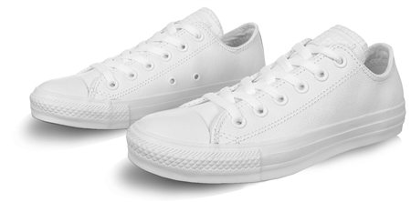 Converse White (Womens) Chuck Taylor All Star Mono Leather  - Click to view a larger image