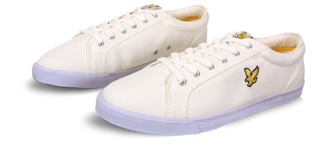 Lyle & Scott White & Blue Trainer  - Click to view a larger image