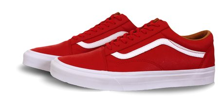 Vans Red 'Old Skool' Premium Trainer  - Click to view a larger image