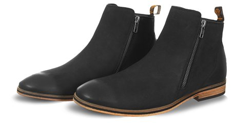 Superdry Black Trenton Zip Boots  - Click to view a larger image