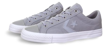 aa7385b548d8a2 Converse Grey Star Player Summer Twill - Click to view a larger image