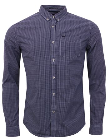 Superdry Navy Check Ultimate Oxford Shirt  - Click to view a larger image