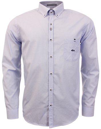 Dario Beltran Light Blue Saldo Long Sleeve Shirt  - Click to view a larger image