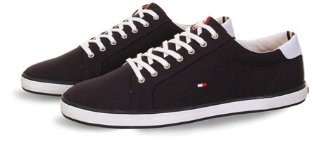 Hilfiger Denim Navy Lace Up Trainer  - Click to view a larger image