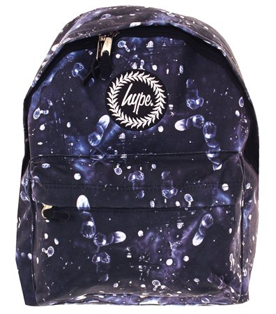 Hype Navy Finger Print Bag  - Click to view a larger image