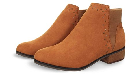 Dolcis Tan Wendy Stud Ankle Boot  - Click to view a larger image