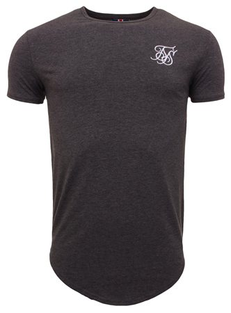 Siksilk Dark Grey Tee  - Click to view a larger image