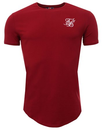 Siksilk Burgandy Tee  - Click to view a larger image