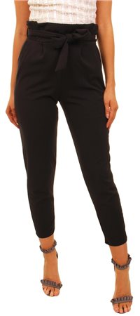 Missi Lond Black Frill Trouser  - Click to view a larger image