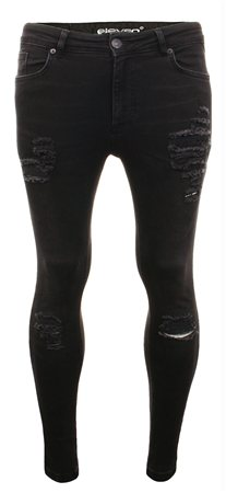 7dd0d57f36c 11degrees Black Distressed Jean - Click to view a larger image