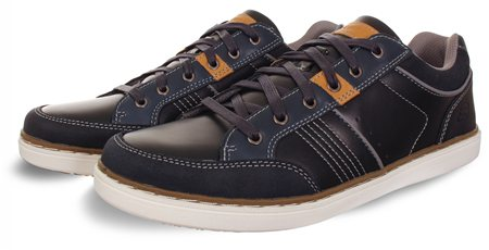Skechers Navy Rometo Trainer  - Click to view a larger image