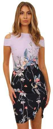 Lipsy Lilac Jdo4592 Floral Print  - Click to view a larger image