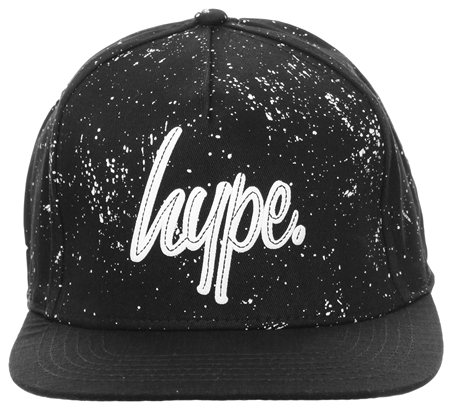 Hype Black Baseball Cap  - Click to view a larger image