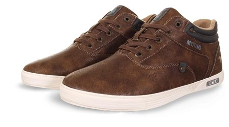 Mustang Brown High Top Lace Up Shoes  - Click to view a larger image