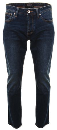 Superdry Grey Blue Aged Straight Jeans  - Click to view a larger image