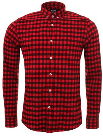 Alex & Turner Red Check Logo Shirt  - Click to view a larger image