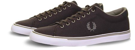 Fred Perry Charcoal Underspin Canvas Trainer  - Click to view a larger image