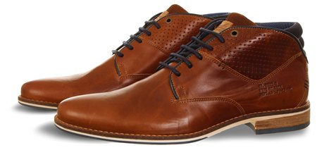 Bull Boxer Tan Tan Leather Lace Up Boot  - Click to view a larger image