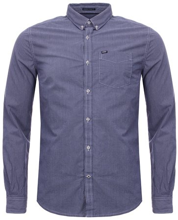 Superdry Navy London Button Down Shirt  - Click to view a larger image