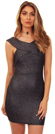 Ax Paris Black Shimmer Dress  - Click to view a larger image
