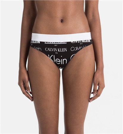 Calvin Klein Black Logo Thong  - Click to view a larger image