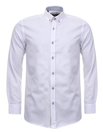 Ottomoda White Button Up Shirt  - Click to view a larger image