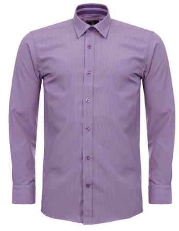 Ottomoda Lilac Check Shirt  - Click to view a larger image