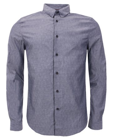 Threadbare Navy Bakersfield Shirt  - Click to view a larger image