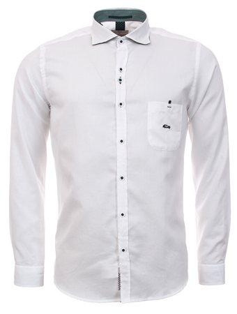 Dario Beltran White Long Sleeve Shirt  - Click to view a larger image