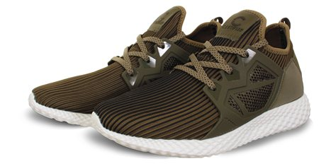 Certified Khaki Lace Up Trainer  - Click to view a larger image
